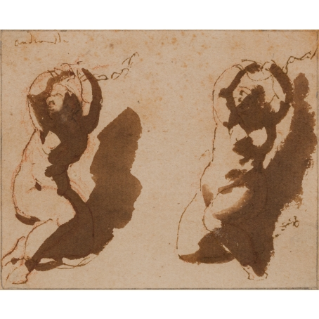 Jan de Bisschop (Amsterdam, 1628-1671 Den Haag) Two studies of Andromeda