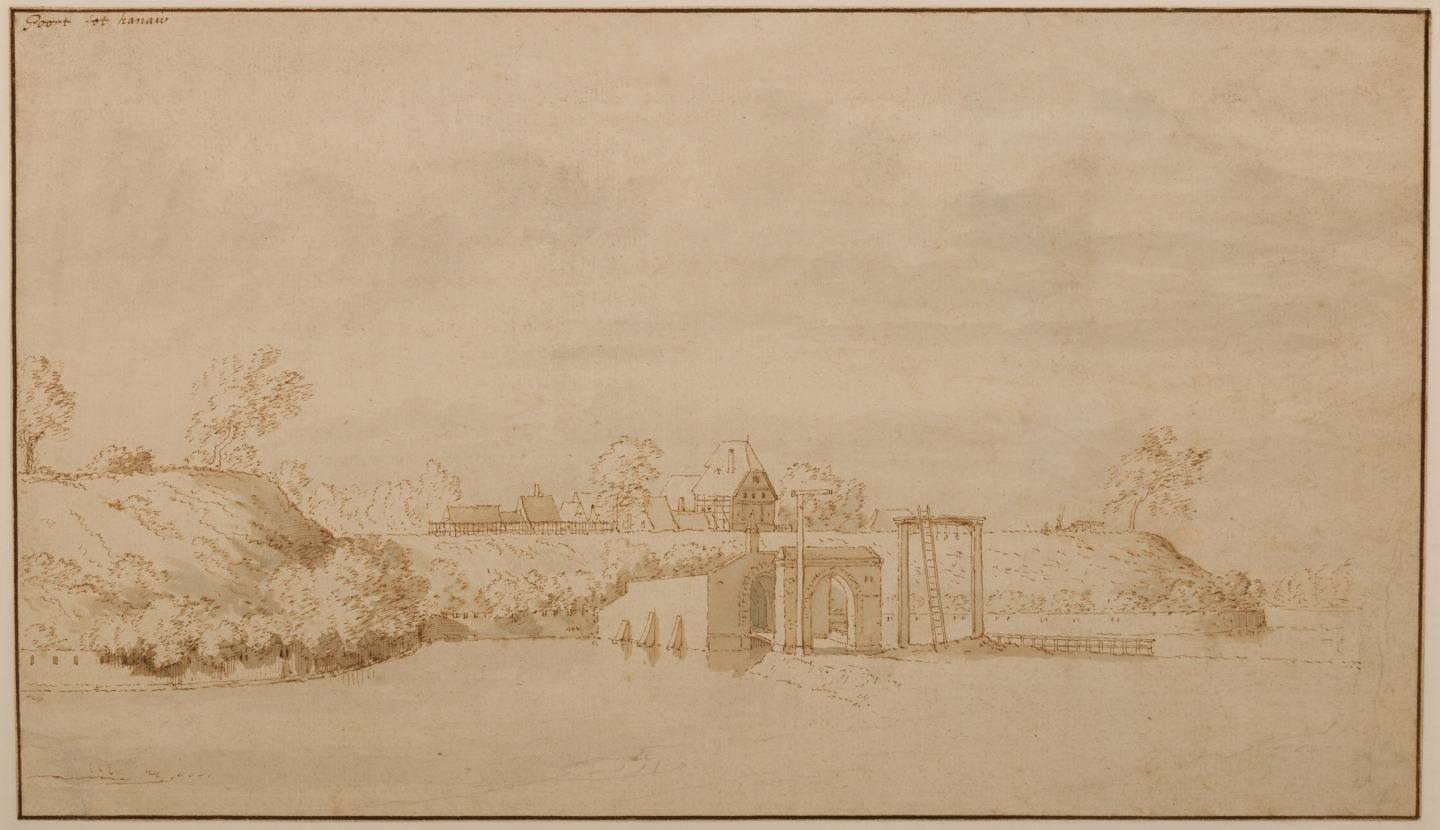 Abraham Rademaker (Lisse 1676-1735 Haarlem) City gate of Hanau