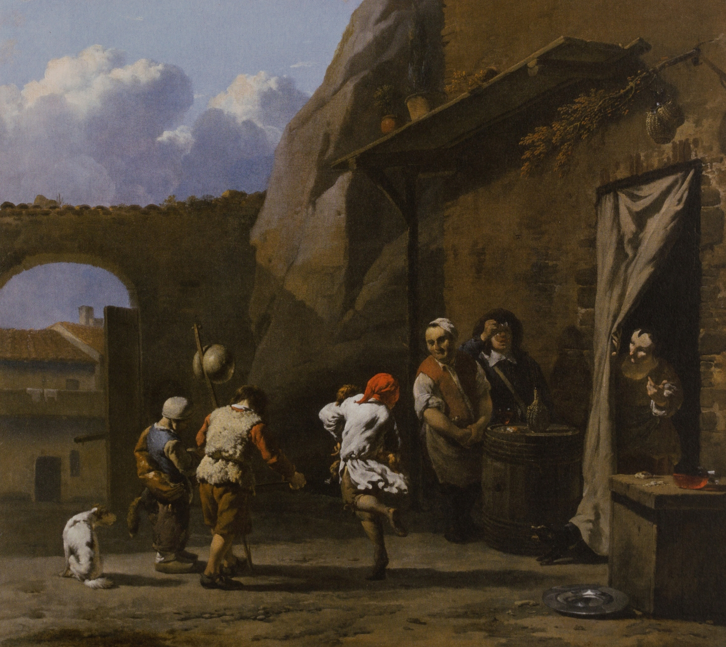 Karel Dujardin (Amsterdam 1626-1678 Venice) Two boys making music