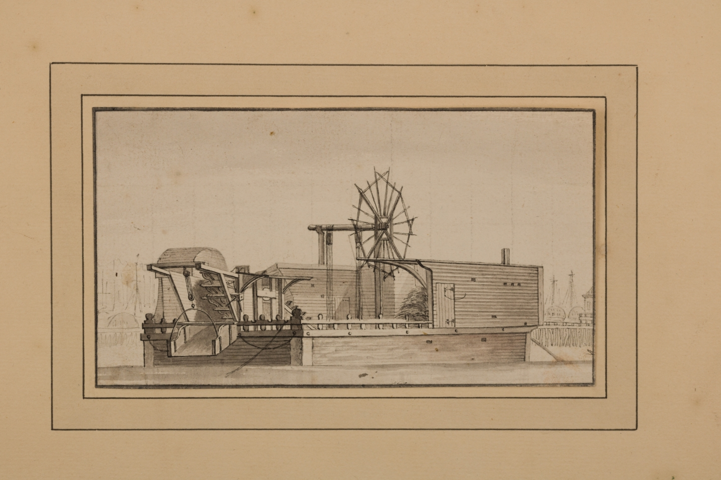 Paulus van Liender (Utrecht, 1731-Harlem, 1797) (attr. to) The small mud mill from Amsterdam