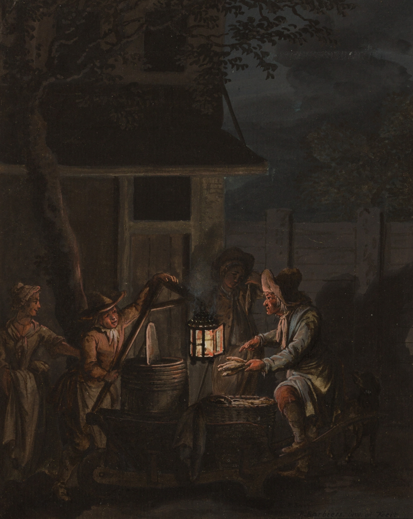 Pieter Barbiers I (Amsterdam, 1717-1780) A herring seller by night