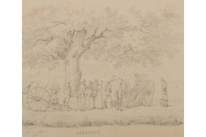 Louis Charles Hora Siccama (Utrecht 1807-1880 Utrecht) Three albums with 637 travel drawings
