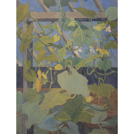 Theo van Hoytema (The Hague 1863-1917 The Hague) Greenhouse with ornamental gourds