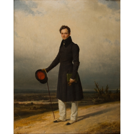 Pierre Duval-Le Camus (Lisieux 1790-1854 St. Cloud) Portrait of Claude-Marie Dubufe, Normandy.